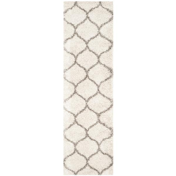 Safavieh Hudson Trellis Rug - 2.3' x 8' - Polypropylene - Ivory