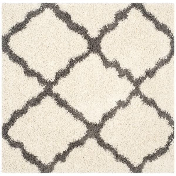 Safavieh Dallas Trellis Rug - 6' x 6' - Polypropylene - Ivory