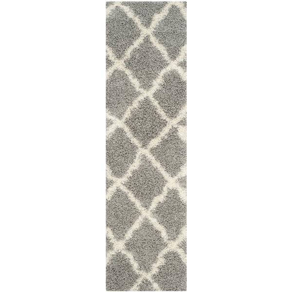 Safavieh Dallas Trellis Rug - 2.3' x 8' - Polypropylene - Gray