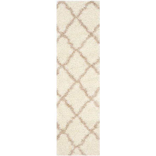 Safavieh Dallas Trellis Rug - 2.3' x 8' - Polypropylene - Ivory