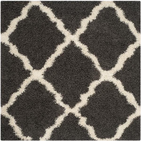 Safavieh Dallas Trellis Rug - 6' x 6' - Polypropylene - Dark Gray