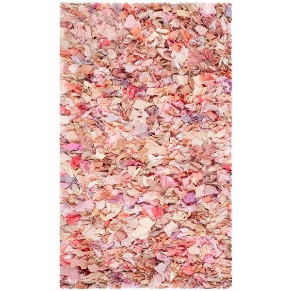 Safavieh Rio Abstract Rug - 4' x 6' - Polyester - Pink