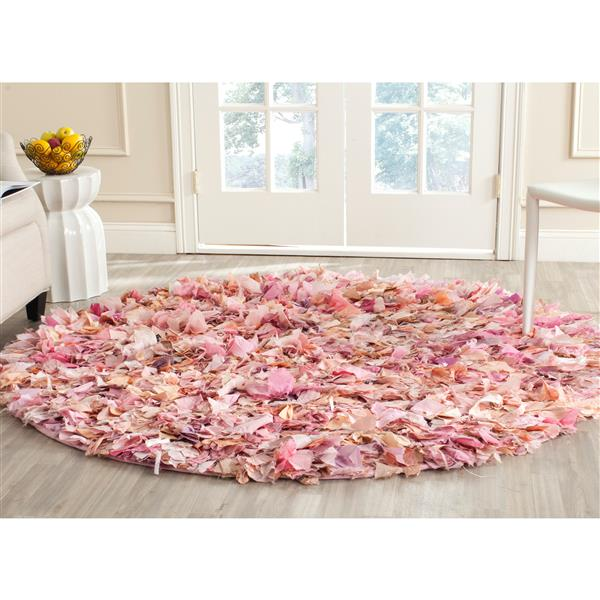 Safavieh Rio Abstract Rug - 4' x 4' - Polyester - Pink