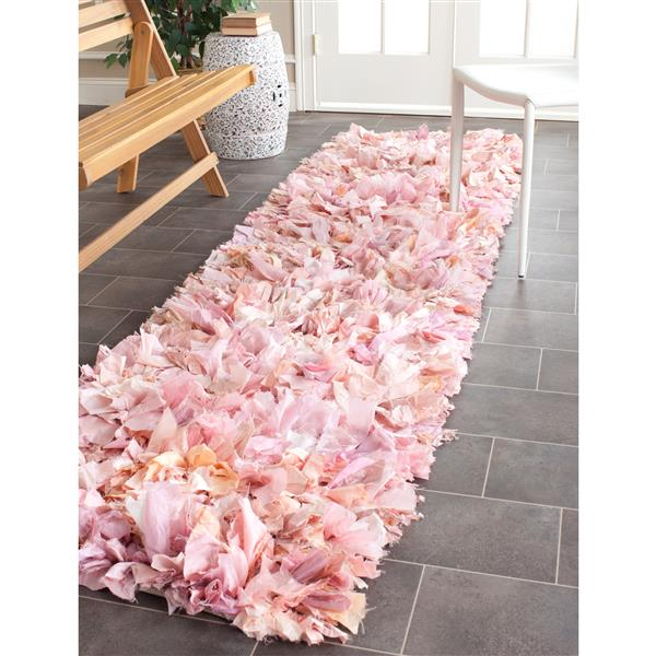 Safavieh Rio Abstract Rug - 2.3' x 9' - Polyester - Pink