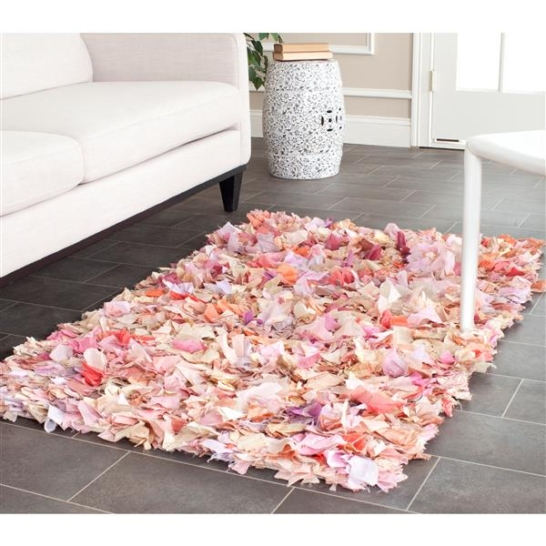 Safavieh Rio Abstract Rug - 3' x 5' - Polyester - Pink