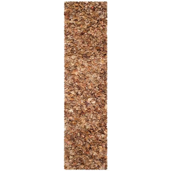 Safavieh Rio Abstract Rug - 2.3' x 11' - Polyester - Brown