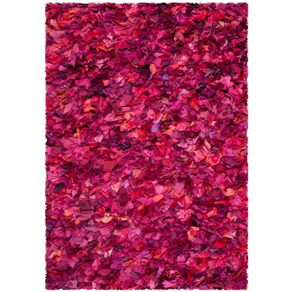 Safavieh Rio Abstract Rug - 4' x 6' - Polyester - Fuschia