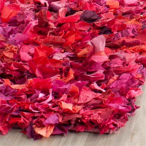 Safavieh Rio Abstract Rug - 3' x 5' - Polyester - Fuschia