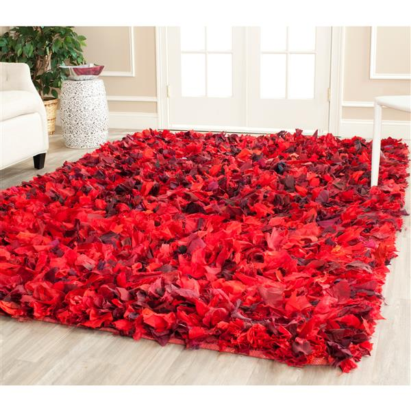 Safavieh Rio Abstract Rug - 4' x 6' - Polyester - Red