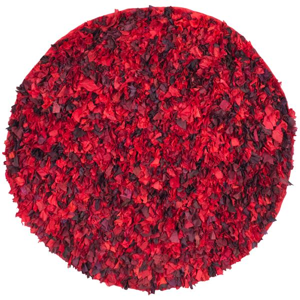 Safavieh Rio Abstract Rug - 4' x 4' - Polyester - Red