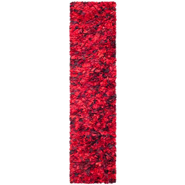 Safavieh Rio Abstract Rug - 2.3' x 11' - Polyester - Red
