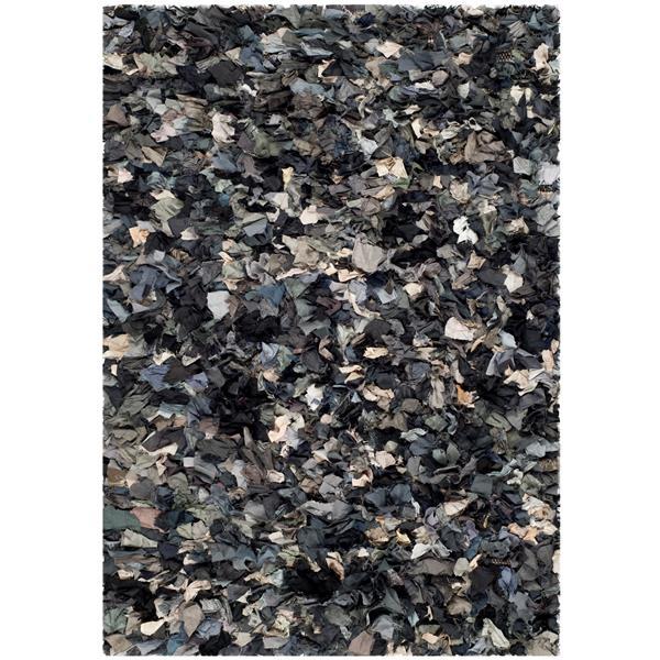 Safavieh Rio Abstract Rug - 3' x 5' - Polyester - Gray