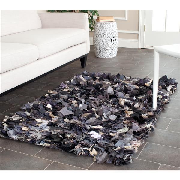 Safavieh Rio Abstract Rug - 2.5' x 4' - Polyester - Gray
