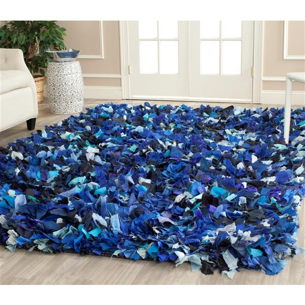 Safavieh Rio Abstract Rug - 4' x 6' - Polyester - Blue