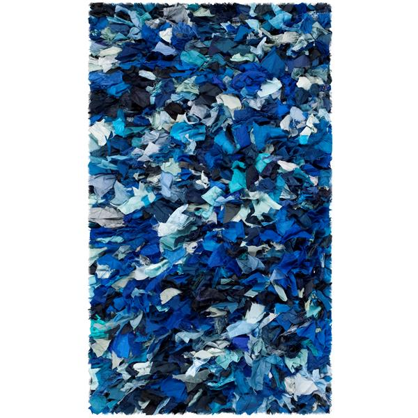 Safavieh Rio Abstract Rug - 2.5' x 4' - Polyester - Blue