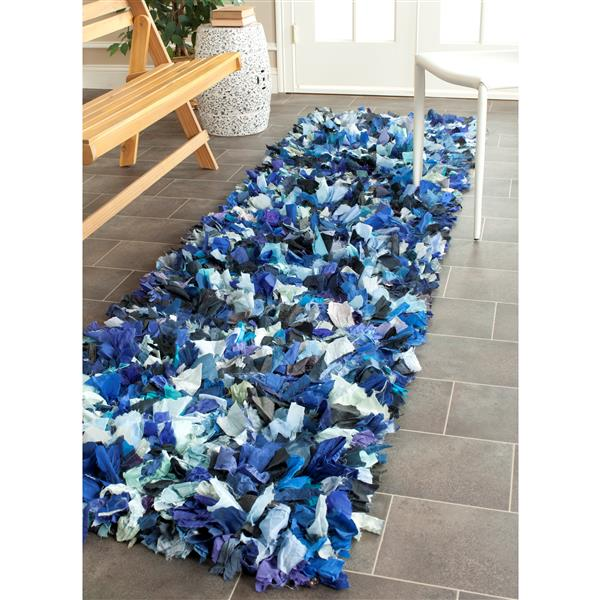 Safavieh Rio Abstract Rug - 2.3' x 6' - Polyester - Blue