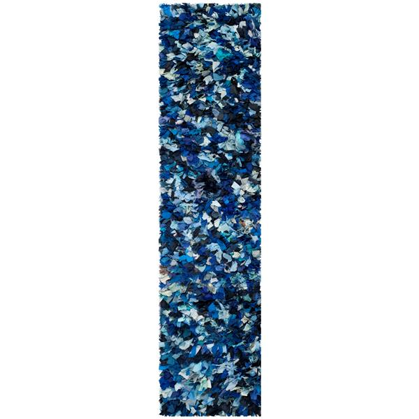 Safavieh Rio Abstract Rug - 2.3' x 11' - Polyester - Blue
