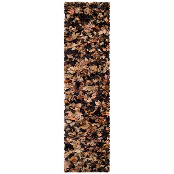 Safavieh Rio Abstract Rug - 2.3' x 9' - Polyester - Brown