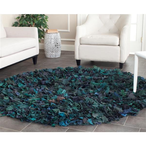 Safavieh Rio Abstract Rug - 4' x 4' - Polyester - Green