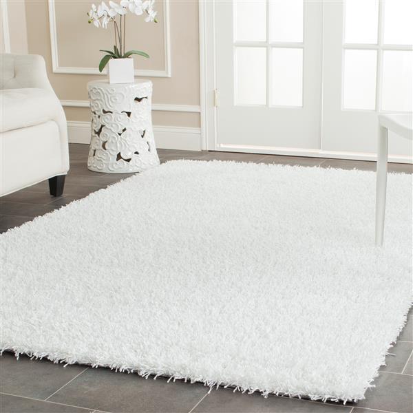 Safavieh Monterey Solid Rug - 3' x 5' - Polyester - White