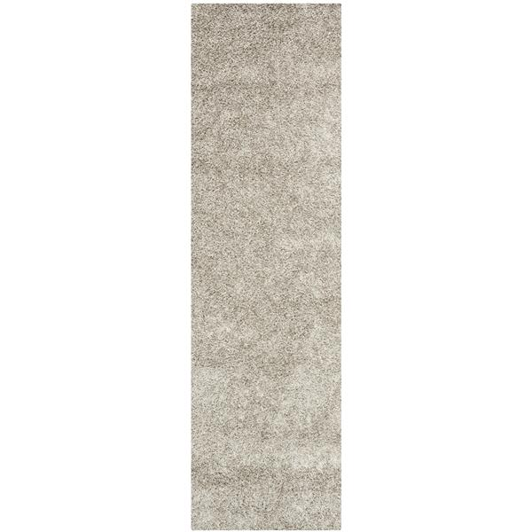 Safavieh Monterey Solid Rug - 2.3' x 10' - Polyester - Silver