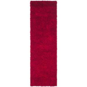 Safavieh Monterey Solid Rug - 2.3' x 6' - Polyester - Red