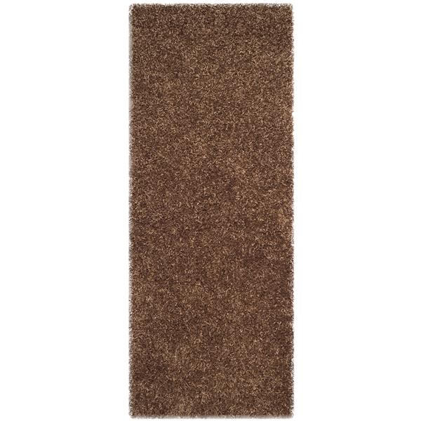 Safavieh Monterey Solid Rug - 2.3' x 6' - Polyester - Light Brown