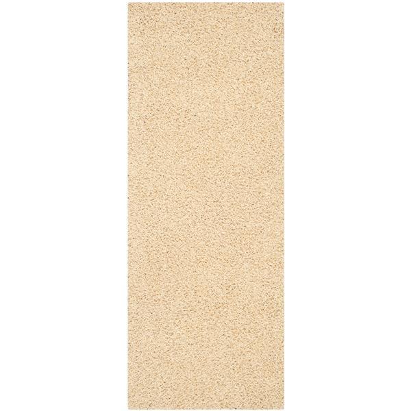 Safavieh Monterey Solid Rug - 2.3' x 6' - Polyester - Cream
