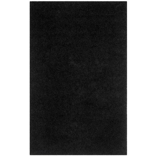 Safavieh Monterey Solid Rug - 4' x 6' - Polyester - Black