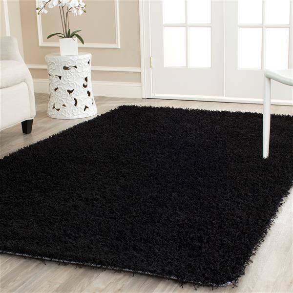 Safavieh Monterey Solid Rug - 3' x 5' - Polyester - Black