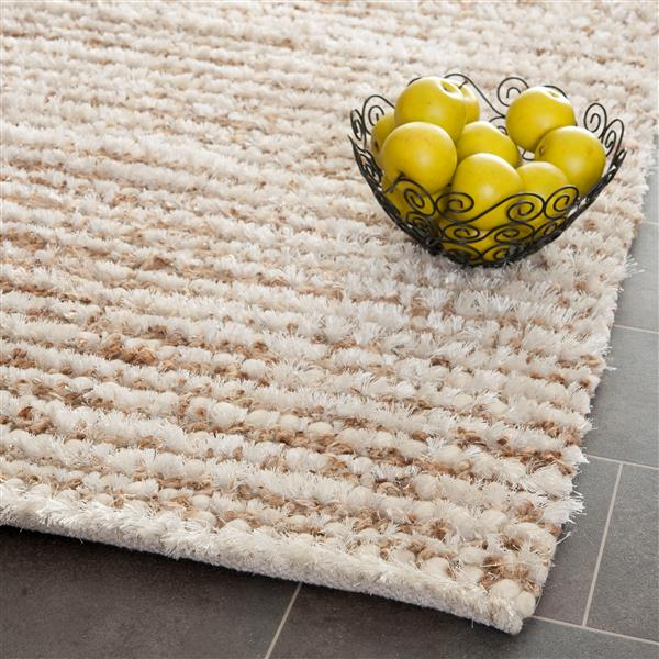 Safavieh 3D Abstract Rug - 3' x 5' - Polypropylene - White