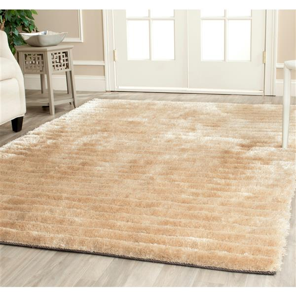 Safavieh 3D Abstract Rug - 5' x 8' - Polypropylene - Champagne