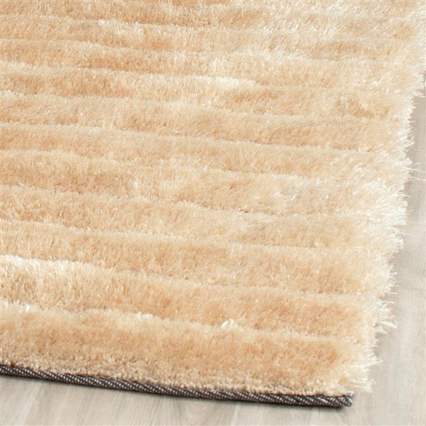 Safavieh 3D Abstract Rug - 3.5' x 5.5' - Polypropylene - Champagne