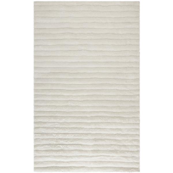 Safavieh 3D Abstract Rug - 5' x 8' - Polypropylene - Off-white