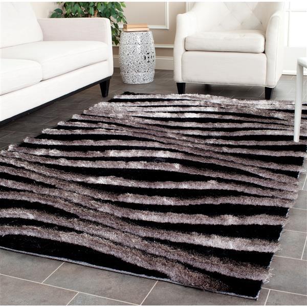 Safavieh 3D Abstract Rug - 2.5' x 4' - Polypropylene - Black