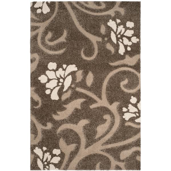 Safavieh Florida Floral Rug - 4' x 6' - Synthetic - Gray