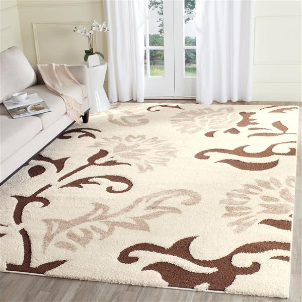 Safavieh Florida Floral Rug - 4' x 6' - Synthetic - Ivory