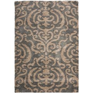 Safavieh Florida Damask Rug - 4' x 6' - Synthetic - Gray