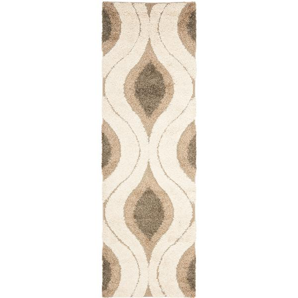 Safavieh Florida Abstract Rug - 2.3' x 7' - Synthetic - Cream