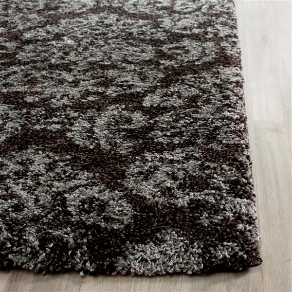 Safavieh Florida Damask Rug - 4' x 6' - Synthetic - Dark Brown