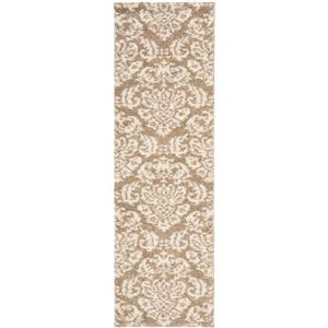 Safavieh Florida Damask Rug - 2.3' x 11' - Synthetic - Beige