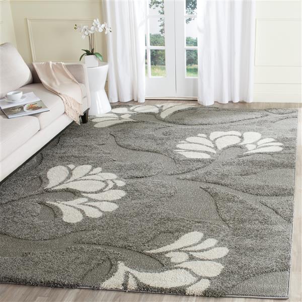 Safavieh Florida Floral Rug - 4' x 6' - Synthetic - Gray