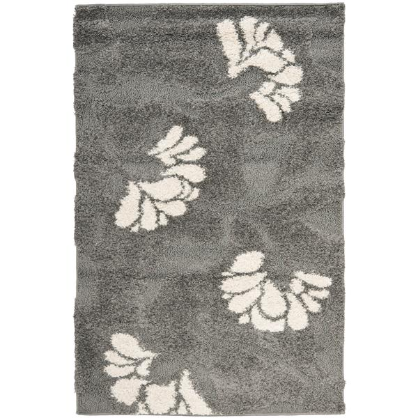 Safavieh Florida Floral Rug - 3.3' x 5.3' - Synthetic - Gray