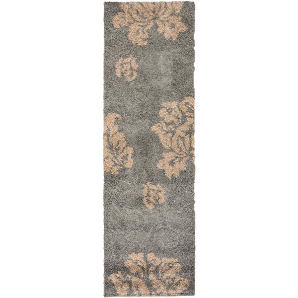 Safavieh Florida Floral Rug - 2.3' x 7' - Synthetic - Gray