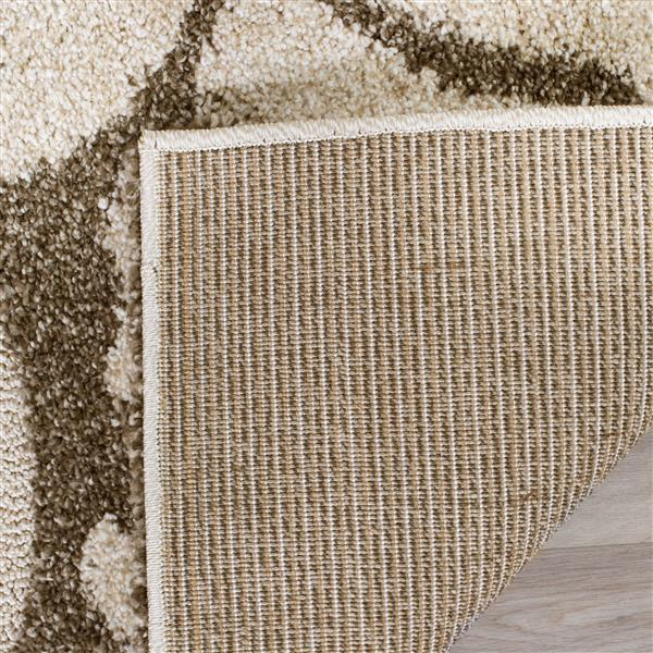 Safavieh Florida Floral Rug - 3.3' x 5.3' - Synthetic - Beige