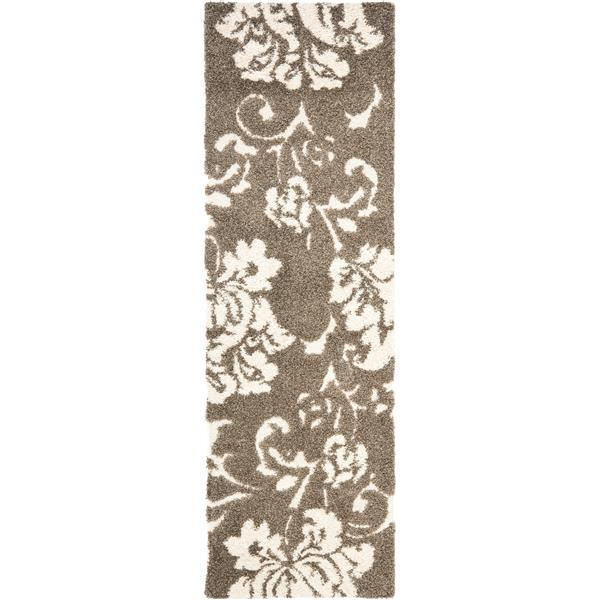 Safavieh Florida Floral Rug - 2.3' x 7' - Synthetic - Beige