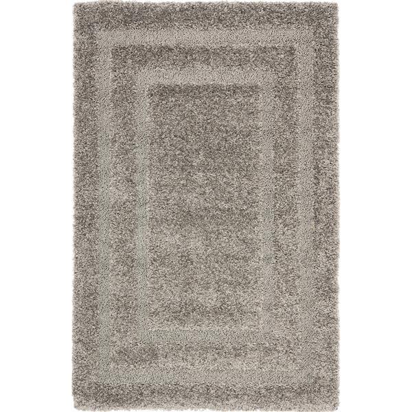 Safavieh Florida Border Rug - 4' x 6' - Synthetic - Gray