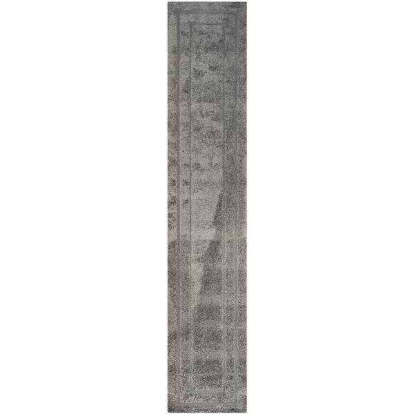 Safavieh Florida Border Rug - 2.3' x 7' - Synthetic - Gray