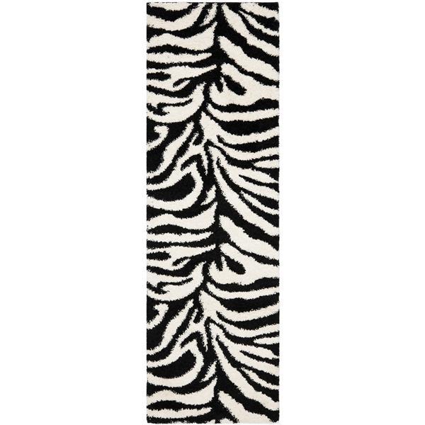 Safavieh Florida Print Rug - 2.3' x 7' - Polypropylene - Ivory