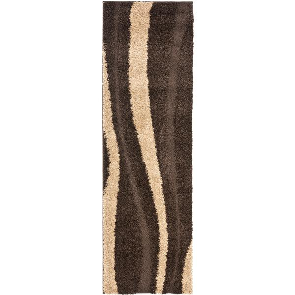 Safavieh Florida Stripe Rug - 2.3' x 7' - Polypropylene - Brown